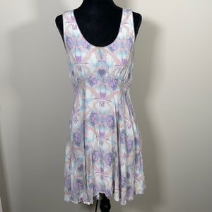 Free people abstract print skater dress